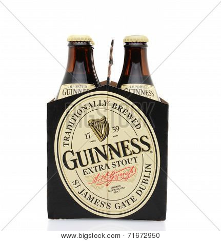 Guinness Extra Stout Six Pack End View