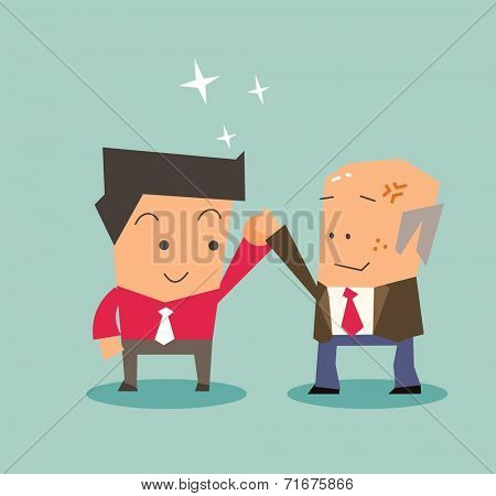 Best employee deserve it. Flat vector illustration