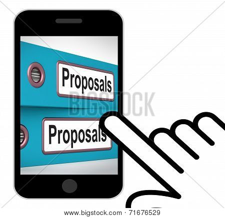 Proposals Folders Displays Suggesting Business Plan Or Project