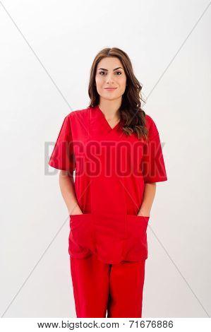 Medical person: Nurse / young doctor portrait.