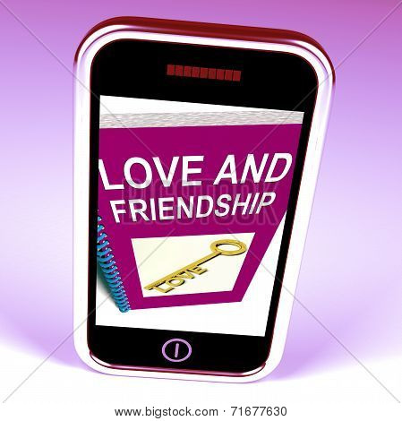 Love And Friendship Phone Represents Keys And Advice For Friends