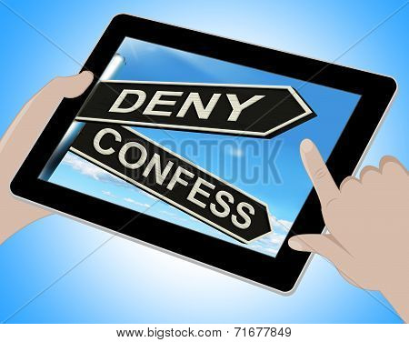 Deny Confess Tablet Means Refute Or Admit To