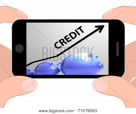 Credit Arrow Displays Lending Debt And Repayments