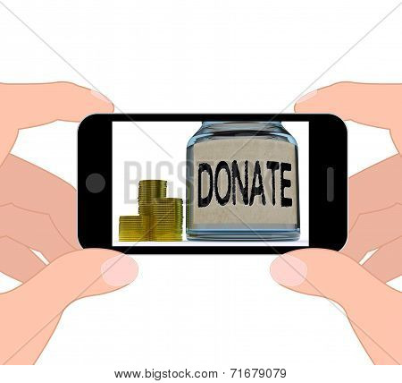 Donate Jar Displays Fundraising Charity And Contributions