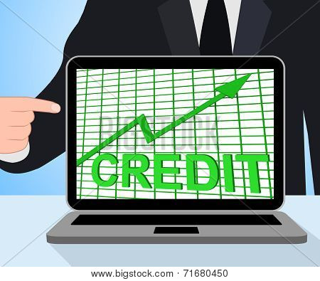 Credit Graph Chart Displays Buy Increase Grow Debt