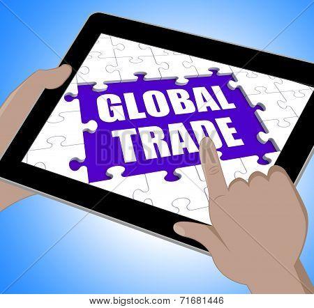 Global Trade Tablet Shows Web International Business