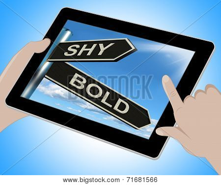 Shy Bold Tablet Means Introvert Or Extrovert