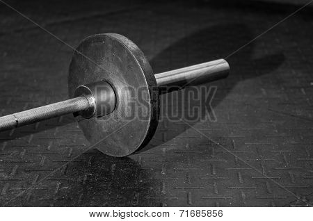 Barbell on the floor