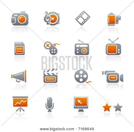Multimedia // Graphite Icons Series