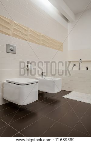 Modern House - Toilet And Bidet