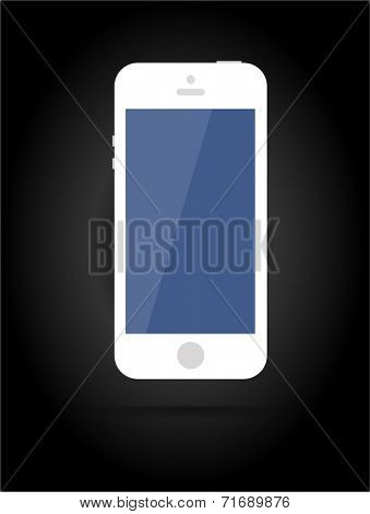 Vector smartphone similar to iphone isolated on black background