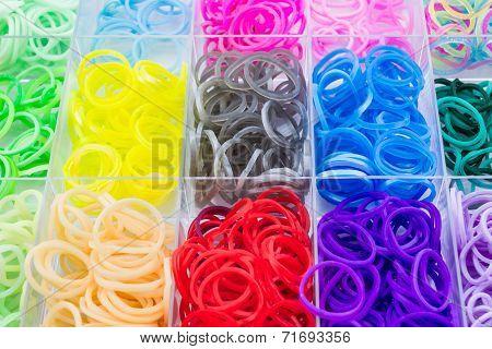 Colorful Of elastic rainbow loom