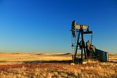 stock photo of nod  - A solo oil derrick - JPG