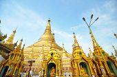 stock photo of yangon  - Shwedagon Paya Pagoda - JPG