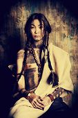 picture of reconstruction  - Art portrait of the American Indian - JPG