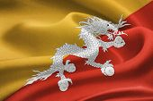 pic of tantric  - flag of Bhutan waving in the wind - JPG