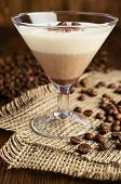 image of panna  - chocolate and vanilla panna cotta with coffee beans - JPG