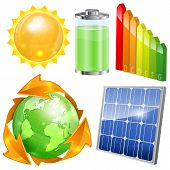 image of solar battery  - Green Energy Set  - JPG