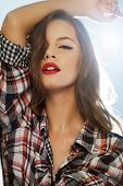 pic of rockabilly  - Portrait of a pin - JPG