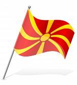 stock photo of macedonia  - flag of Macedonia vector illustration isolated on white background - JPG