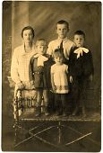 picture of debonair  - Old family Portrait 1917 year Northern Caucasus Russia.