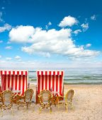 stock photo of sult  - typical beach cafe on the Baltic Sea - JPG