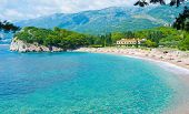 image of yugoslavia  - The Villa Milocer is one of the most beautiful resorts of the Budva riviera surrounded by the shady park with the famous Queen - JPG