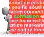 foto of confuse  - Confusion Word Cloud Sign Meaning Confusing Confused Dilemma - JPG