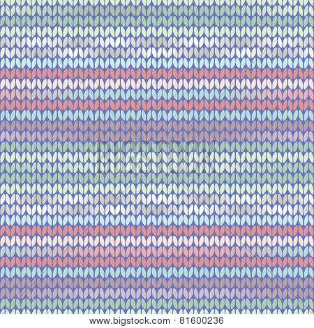 Knitted Pattern Light Blue Pink