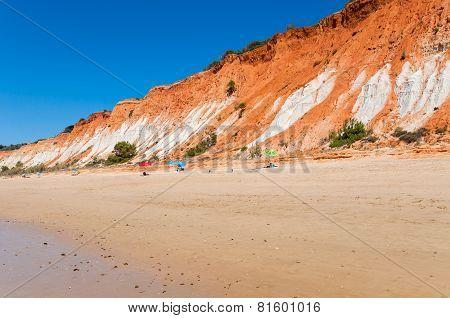 Cliffs At Praia Da Falesia