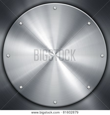 silver knob on metal plate