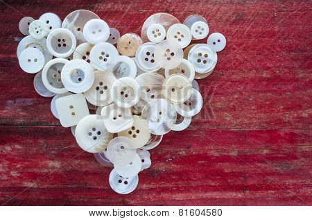 love heart sewing buttons background
