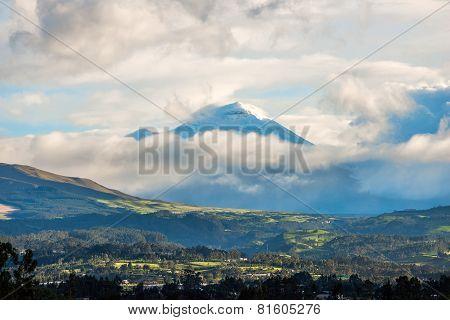 De Los Chillos Valley And Volcano Cotopaxi, Ecuador