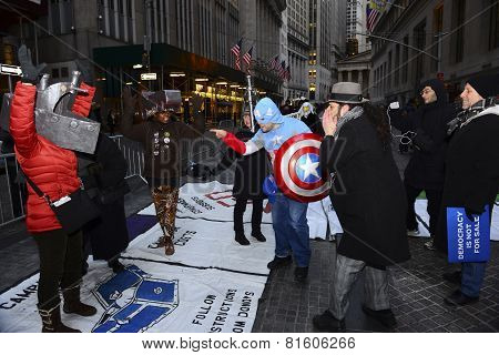 Captain America works the Monopoly