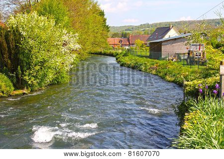 River In Normandy Village