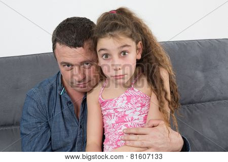 Portrait Of A Father And His Daughter
