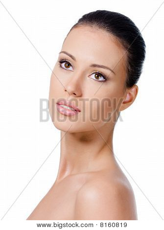 Woman's Face With Healthy Skin