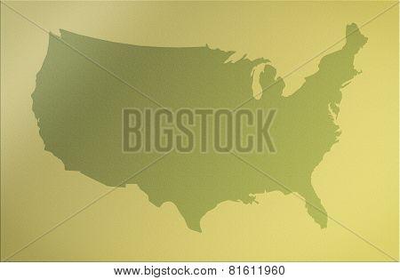 Tan Map Of Usa