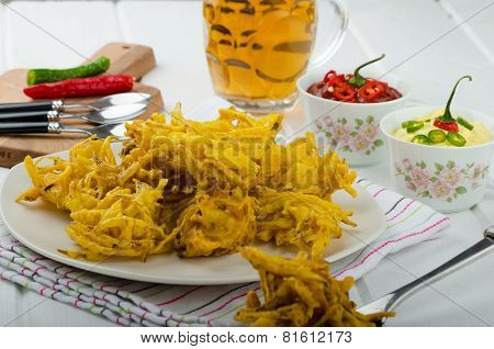 Onion Bhajis, Czech Beer