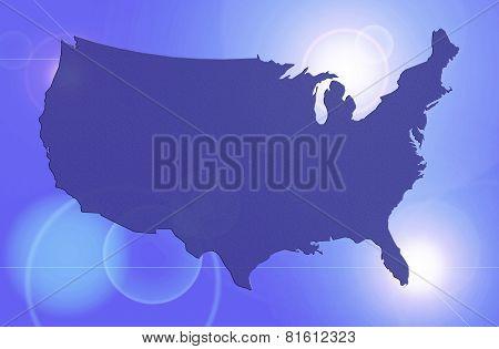 Blue Solar Map