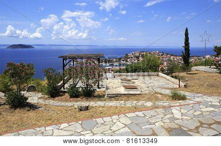 Veranda on the hill in Neos Marmaras.