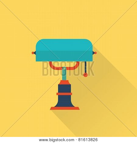 vector flat library lamp icon