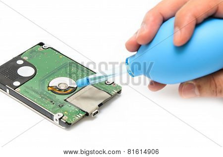 Hand Cleaning Hard Disk