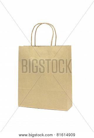 Blank Brown Paper Shopping Bag