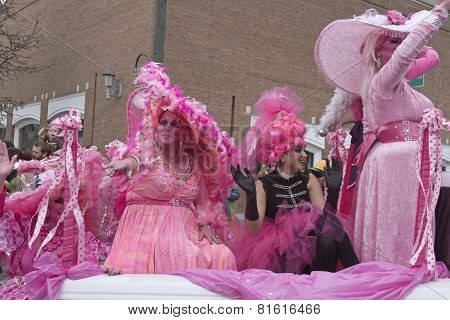 In The Pink For Mardi Gras