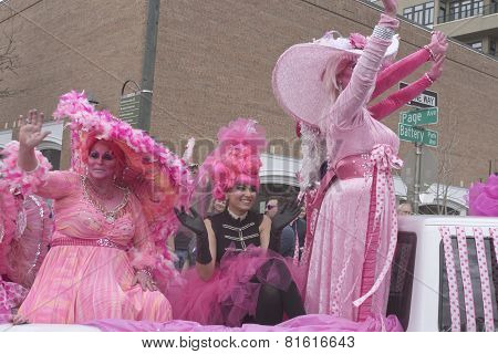 Hot Pink Fashion For Mardi Gras