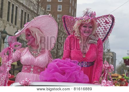 Colorful Mardi Gras Characters
