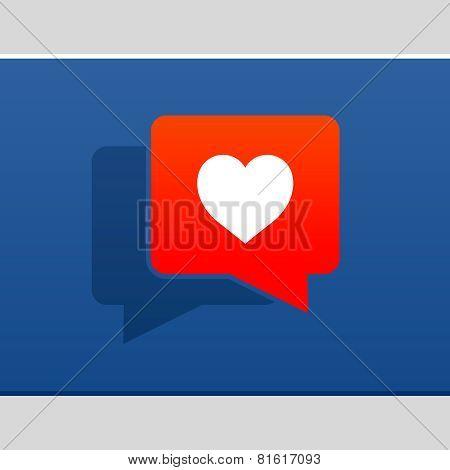 I love social media bubble with heart
