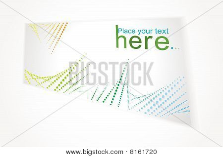 Gift card isolated on a white background