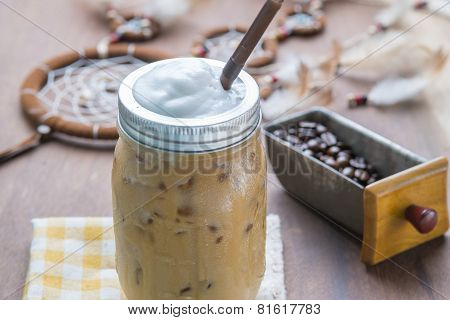 Iced Late Coffee With Milk